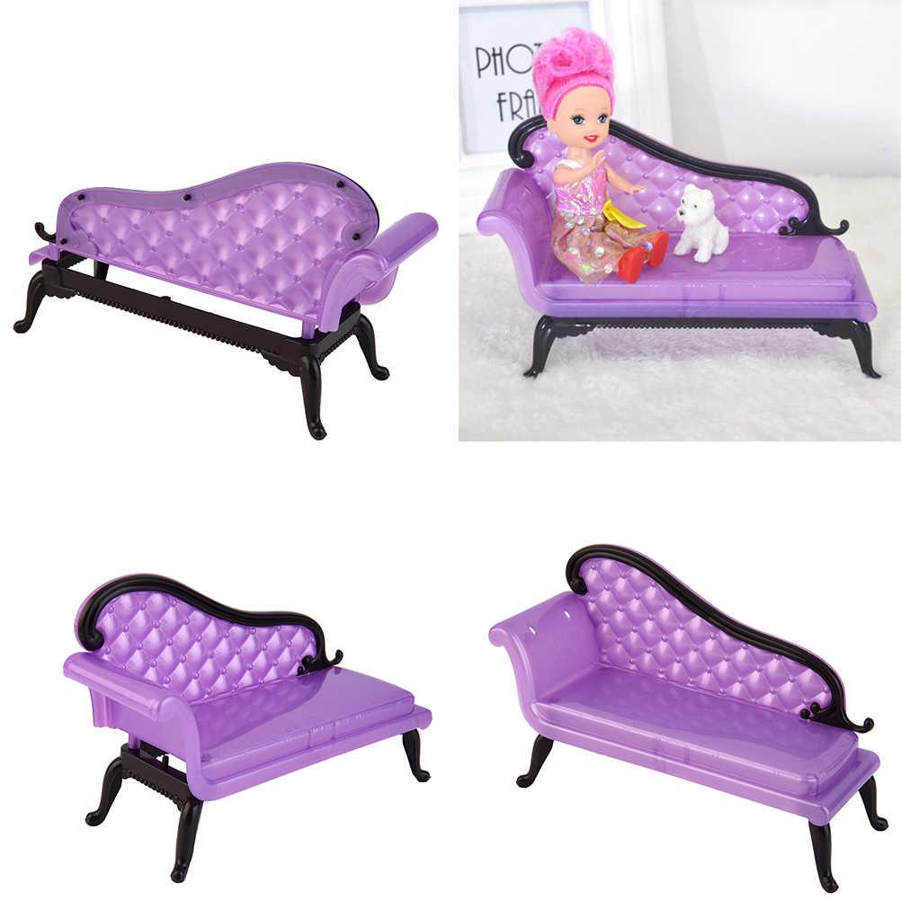 คุณภาพสูงขายร้อนเด็กใหม่เด็กผู้หญิงเจ้าหญิง Dreamhouse เก้าอี้โซฟาเฟอร์นิเจอร์ของเล่นสำหรับตุ๊กตาบาร์บี้