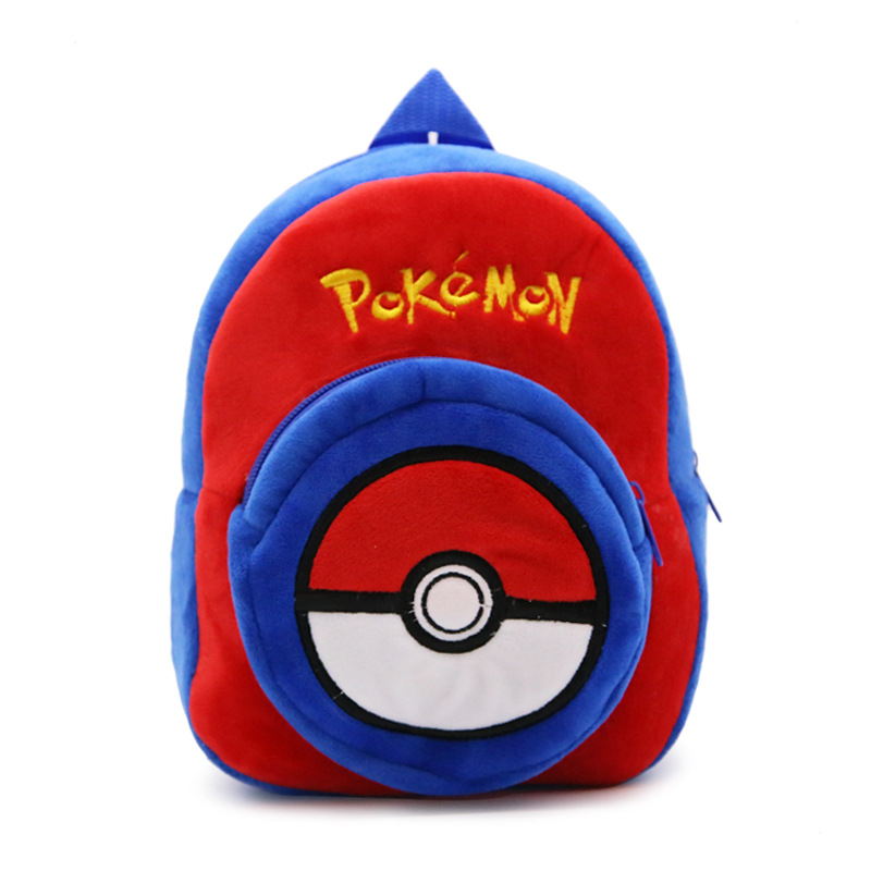Soft Nap Pokemon Elves Ball Ryggsäck Barnsäng Barn Tonåringar Skol Axelväska Boy Girl Pokemon Pocket Monster Bag BY0064