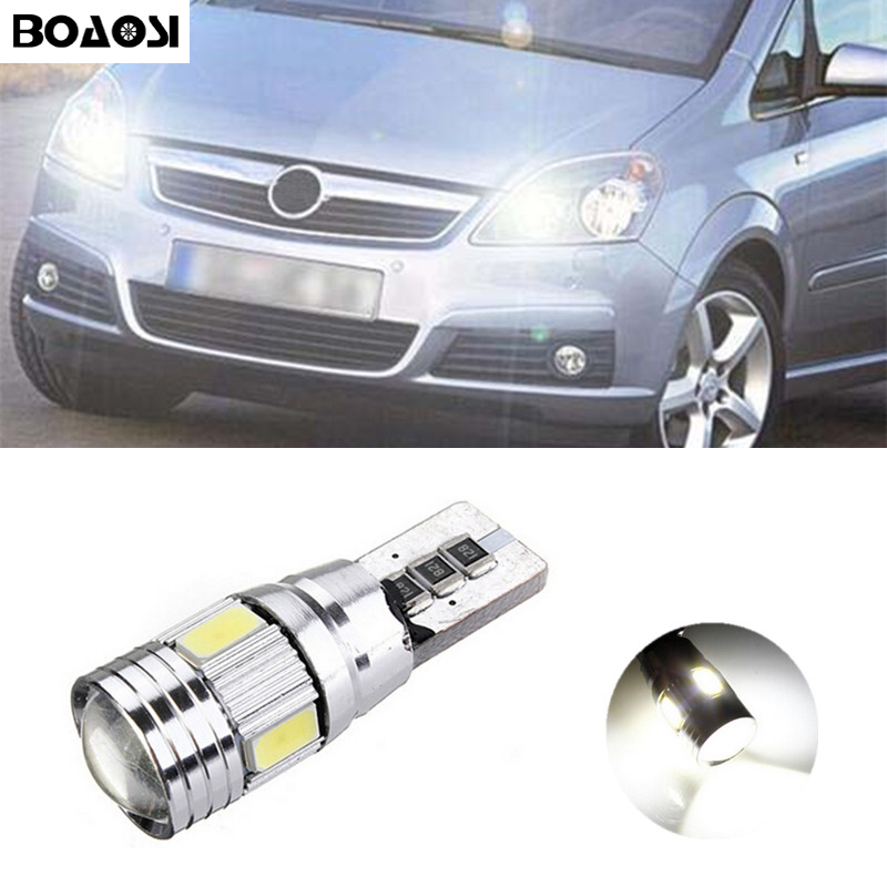 BOAOSI 1x T10 W5W LED Clearance Light Marker Lamp Bulb Canbus Error Free For Opel Astra h j g Corsa Zafira Insignia Vectra b c d 1set smd number plate lamp led kit error free for opel zafira b astra h corsa d insignia led license plate light