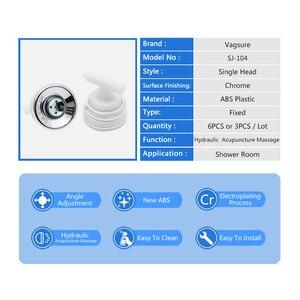 Image 4 - 6 ピース/ロットスプレーノズル油圧鍼灸マッサージ節水シャワーヘッドジェットシャワーキャビンルームアクセサリーバスルーム