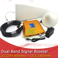 LCD Display 4G DCS 1800MHz 2G GSM 900Mhz Dual Band Mobile Phone Signal Booster GSM 900