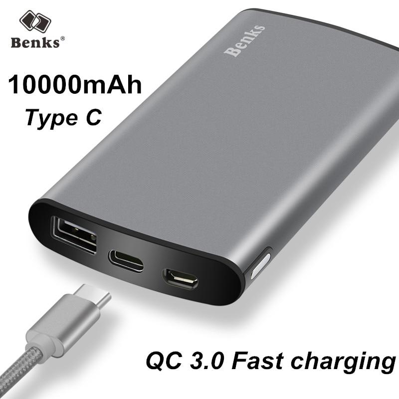 2.4A QC3.0 Universal 10000 mAh Banco de la Energía de Carga Rápida Cargador de B