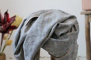 Image 5 - Gabardina de lino grueso Retro para mujer, ropa de cama, prendas de vestir, abrigo largo Vintage de lino, otoño y primavera, 2018