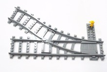 20 Pcs/Lot City Trains Train Track Rail Straight Curved track rail Model Building Blocks Set Bricks Kids Toys Compatible Lego цены