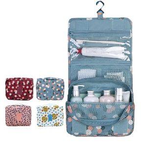 Image 2 - Nuevo estuche para maquillaje de viaje para colgar en la pared, bolsa de maquillaje para mujer, neceser colgante, Kit de viaje, organizador de joyas, estuche para cosméticos