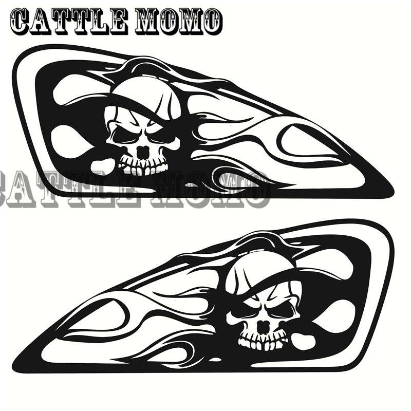 Motorcycle Skull Flame Design Tank Decal Sticker For Sportster Nightster Iron XL883 Քառասուն ութսունինը յոթանասուն երկու XL1200 Tank Decals