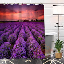 Hot New Eco-friendly Custom Unique Lavender Modern Shower Curtain bathroom Waterproof for yourself H0220-127