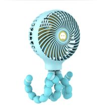 Premium New Mini Portable USB Charging Hanging Octopus Shape Stand Adjustable Handheld Fan Cooler for Baby Stroller Student Use