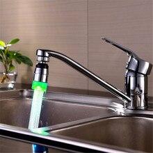 100 unids Cocina Aireador Del Grifo de Luz LED Grifo Con Sensor de Temperatura Romántica 3 Colores Del Resplandor del Agua de Baño Accesorios