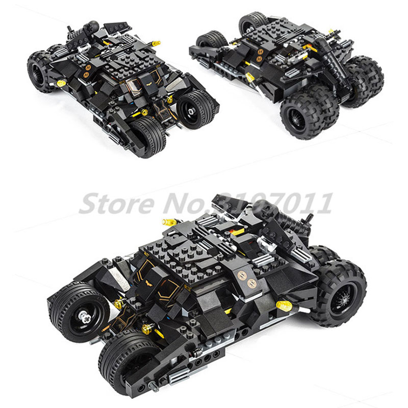 KAZI Building Blocks Decool Batman Bat Tank Batmobile Car Tumbler Batma The Batboat Harbor Pursuit Knight Bat-Pod Toys For Kids