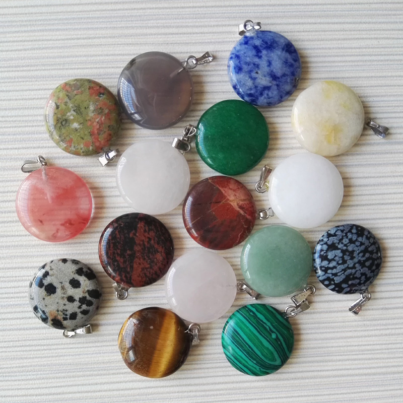 Wholesale natural stone round pendant mixed charms point necklace wholesale natural stone round pendant mixed charms point necklace pendants for women jewelry accessories 12pcslot free shipping in pendants from jewelry aloadofball Images