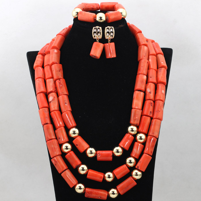 Fantastic African Coral Wedding Fashion Jewelry Set Big Coral Beads Statement Necklace Set Nigerian Wedding Free Shipping CNR499 new fashion nigerian african wedding coral beads jewelry set chunky statement necklace set full beads free shipping cnr345