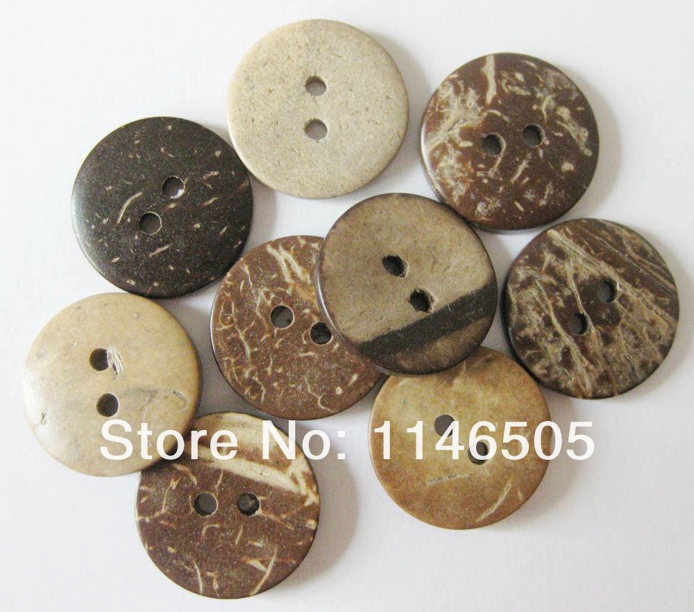 Assorted Sizes Coconut shapes Handmade Natural Coconut Buttons