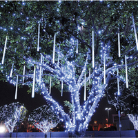 Colorful Christmas Light 30CM Meteor Shower Rain Tubes AC100 240V LED Wedding Party Garden Xmas String