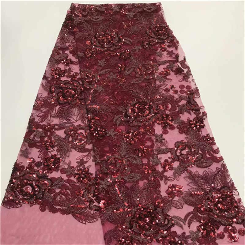 Черное Африканское зеленое кружевное свадебное платье, роскошная кружевная Ткань 5 ярдов, кружево для свадебных платьев в африканском стиле ткань высокого качества Тюль с блестками
