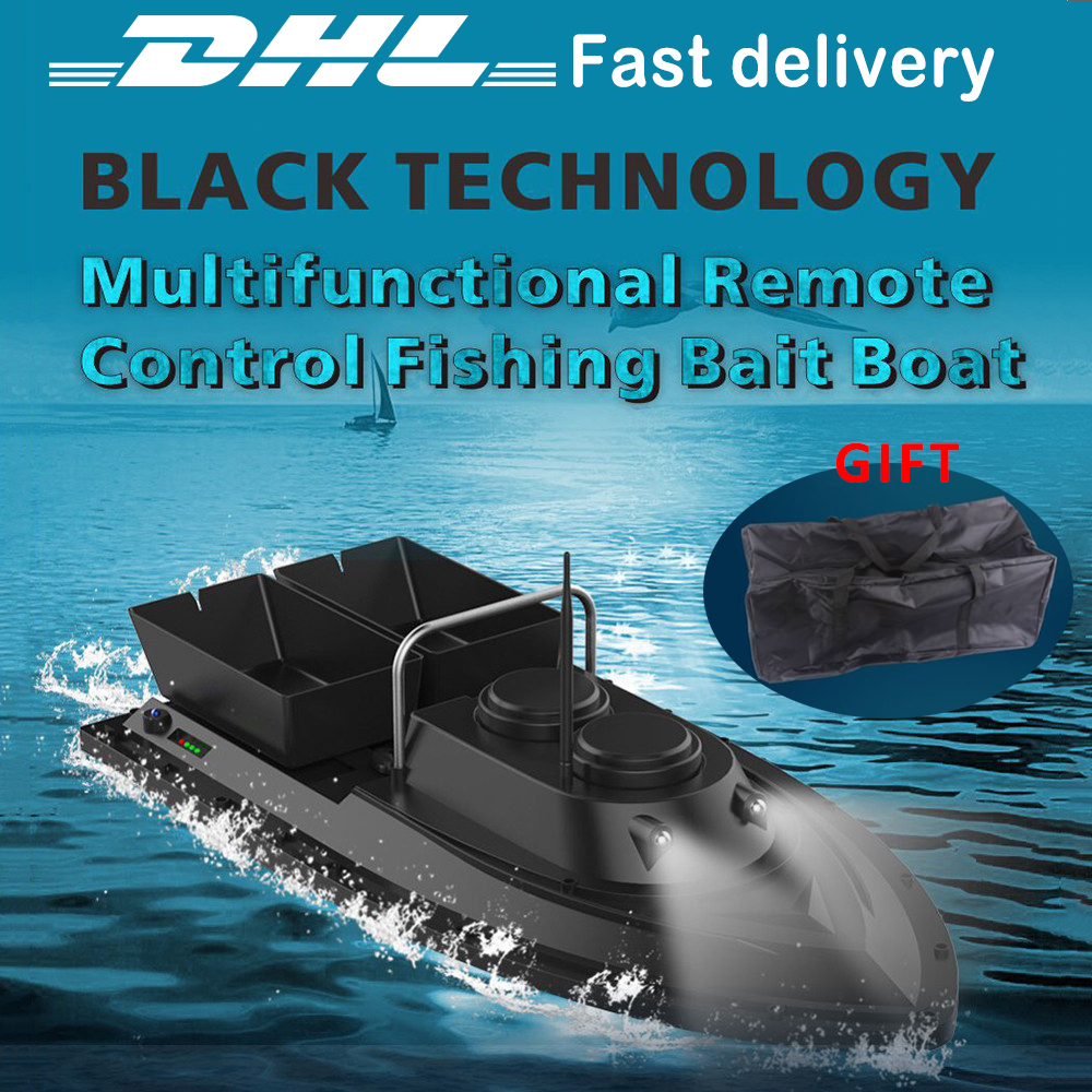 RC Bait Boat Toys Kids Smart Fishing Tool Remote Control Fishing Ship Boats Fish Finder Boat