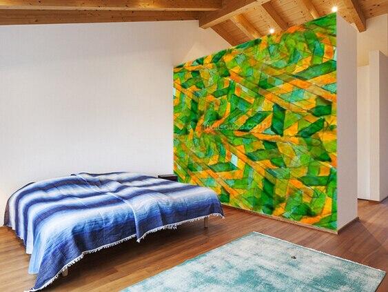 Personnalisé 3D papier peint d\'art rétro, Picasso vert jaune ...