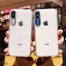 Купить с кэшбэком Acrylic Two-in-One Phone Case For Iphone XMax XS XR X Metal Protection For iphone 6 6s 7 7Plus 8 8 Plus Plastic Case Cover
