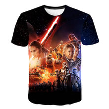 Hot Sales Newest 3D Printed star wars t shirt Men Women Summer Short Sleeve Funny Top Tees Fashion Casual clothing M-5XL(China)
