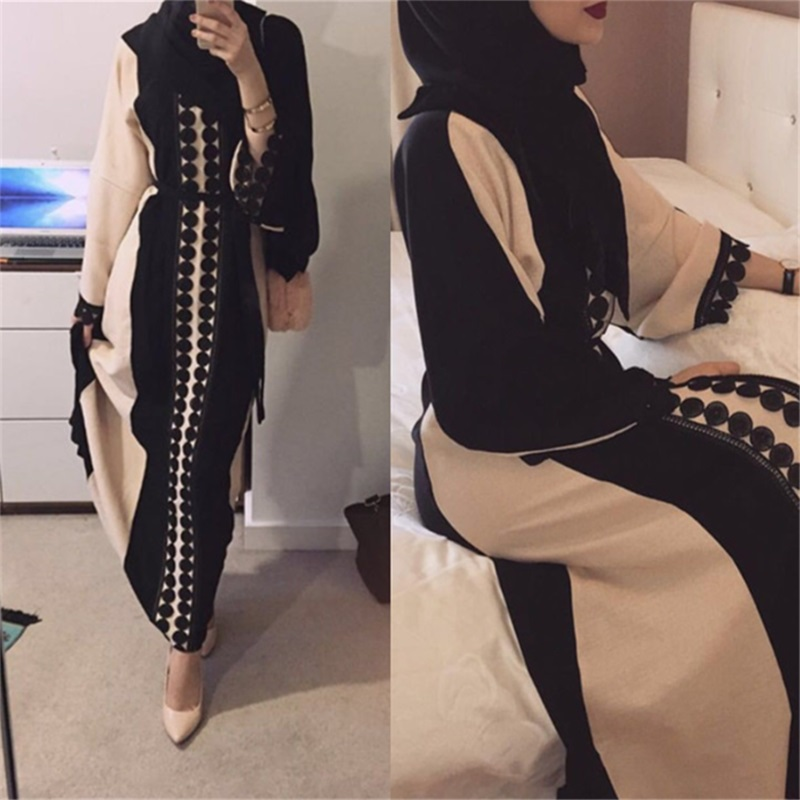 Muslim Women's Lace Abaya Maxi Dress Cardigan Full-length Long Robe Gowns Tunic Kimono Jubah Ramadan Dubai Arab Islamic Clothing