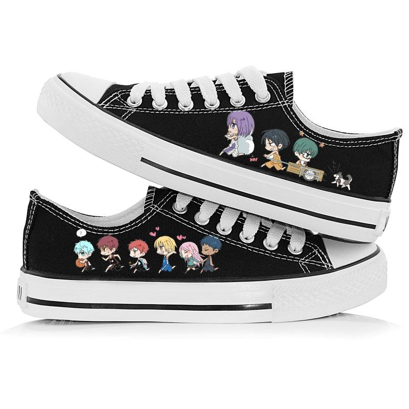 High-Q Unisex Kuroko No Basket Low Canvas Shoes Plimsolls Kise Ryota Aomine Daiki Casual Canvas Rope Soled Shoes