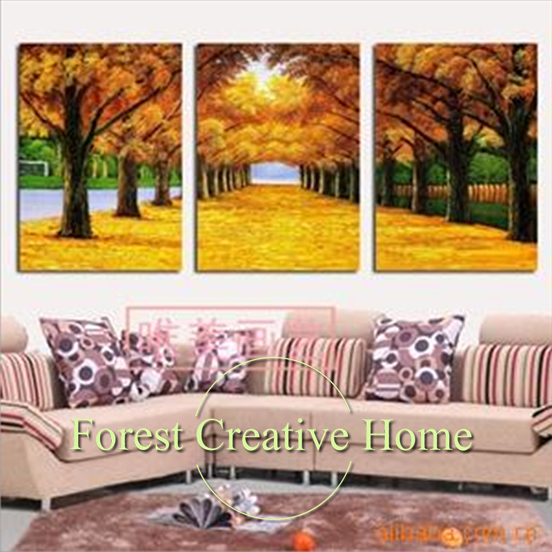 Creative Home Decor Canvas Painting Art Wall For Living Room Forest Leaves Printed Poster Picture Wall Decor Painting Autumn Art
