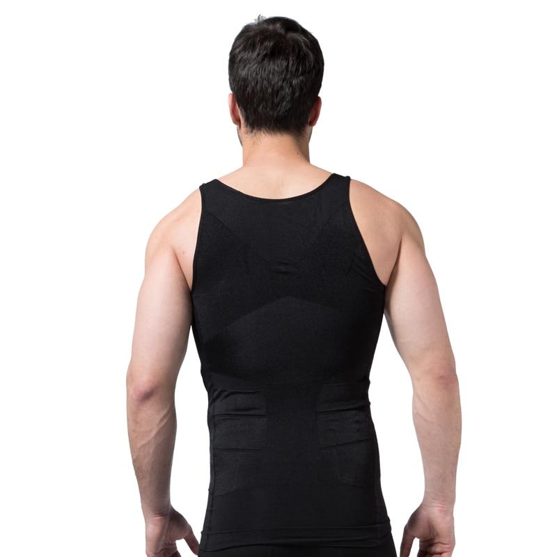2019 Men Slimming Body Shaper Tummy Shaper Vest Slimming Underwear Corset Waist Waist Cincher Men Bodysuit 4