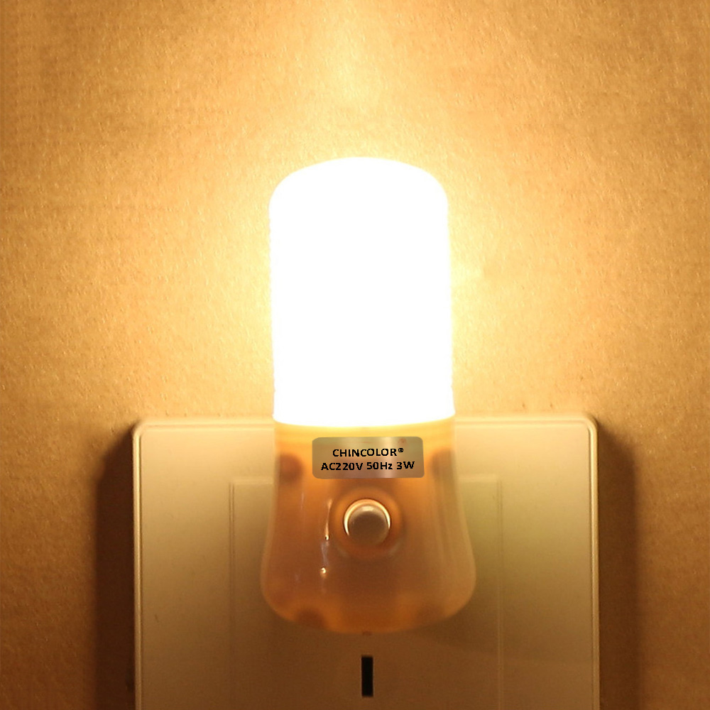 Led Night Light Luminaria Led Switch Night Lamp 110v-220v EU/US Led Energy Saving Lamp Bedside Lamp Night Led Light CHINCOLOR IQ