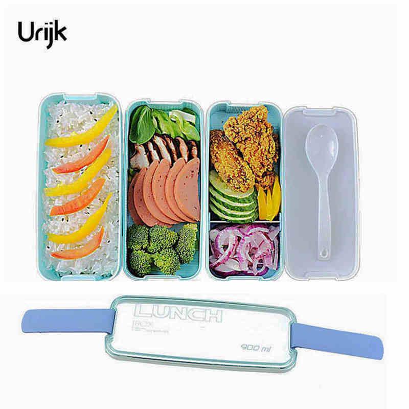Urijk Scatole di Pranzo Contenitori per il Cibo A Microonde Bento Box Per Bambini Picnic Contenitori Per Alimenti Scatola di Conservazione Degli Alimenti Boxs Pranzo Portatile