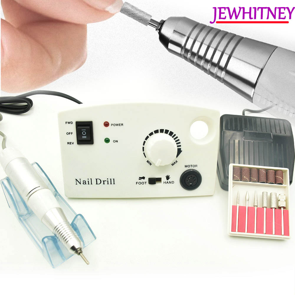 цена на Pro 35000 RPM 25W Electric Nail Drill Machine Diamond Nail File Drill Machine Maniure And Pedicure Drill Polish Bits Tools Kits