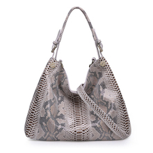 QIANGSHILI Brand Genuine Leather Tote Bag Female Classic Serpentine Prints Luxury Handbags Women Bags Designer High Quality