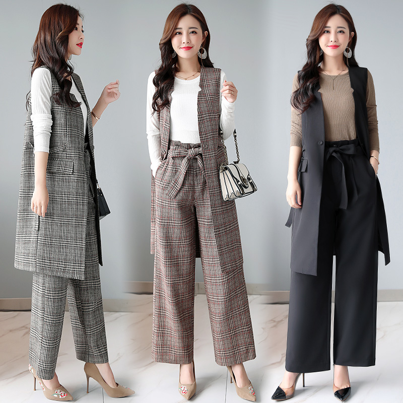 59b8f38e97d New fashion women pants suits temperament vest with Wrap pants and Basic  Shirt office ladies plus size work wear 3 pieces-in Women s Sets from  Women s ...