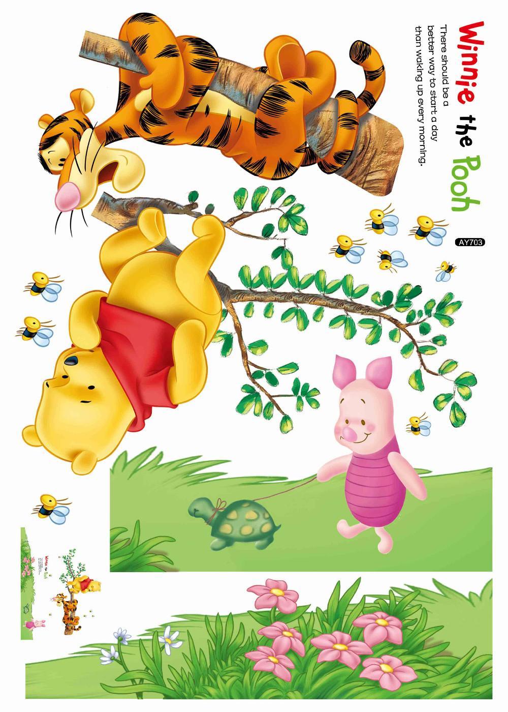 HTB1UfPRKpXXXXaVXFXXq6xXFXXXd - Animals zoo cartoon Winnie Pooh wall sticker for kids room