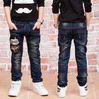 子供のジーンズ2018新しいファッション男の子ジーンズで春秋ジーンズ男の子用年齢2 3 4 5 6 7 8 9 11 12 13 14年古い86205