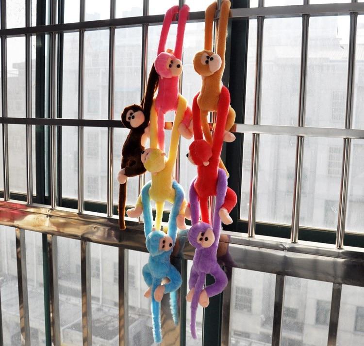 Image 3 - Новая милая плюшевая обезьянка с длинными рукавами-in Мягкие и плюшевые животные from Игрушки и хобби