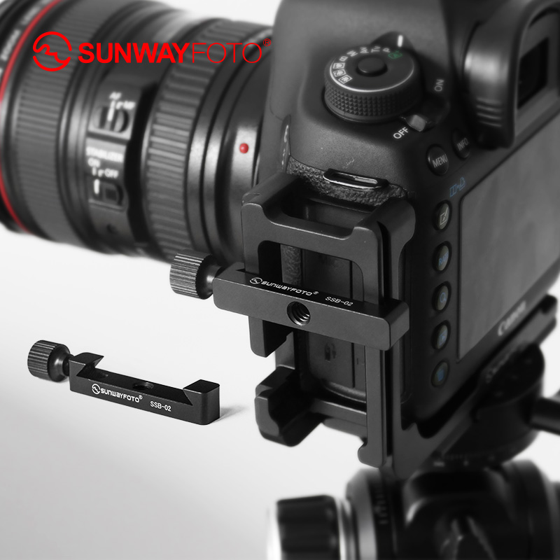 Sunwayfoto SSB-02 DSLR камера штатив быстросъемная пластина Arca мини зажим для L пластины с 1/4 винтовым отверстием
