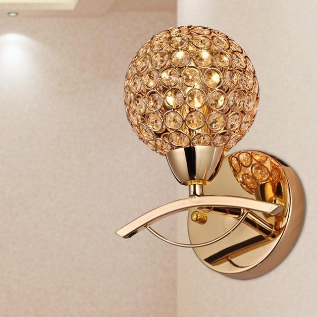 Postmodern Gold K9 Crystal Sconce Wall Lamp Light