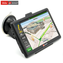 Junsun 7 inch Car GPS Navigation Capacitive screen Bluetooth AV-In FM Built in 8GB/128M WinCE 6.0 Map For Europe Truck vehicle
