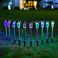 Hot Sale Waterproof 10 PCs LED Outdoor Garden Light RGB White Solar Powered Landscape Yard Lawn Path Lamp Outdoor Decoration