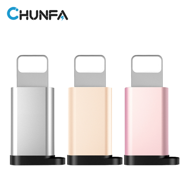 Adaptador USB Micro para iPhone 7 Plus 7 6 6 S 5S Conversor OTG com Furo Rápido Portátil Carregador Data Sync Cable Converter para relâmpago