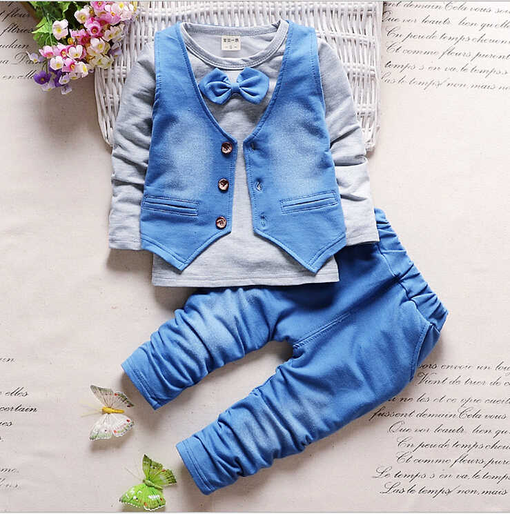 810a2e90f96ca BibiCola Boy clothes fashion baby boy clothing sets kids clothes + pants  suit for children kid clothes suit baby clothing set