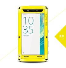 Amor Mei Cubierta de Armadura A Prueba de Golpes Funda Impermeable para Sony Xperia Z1 Z2 Z3 Z4 Z5 Premium Compacto de 360 Grados Caja de Protección Completa