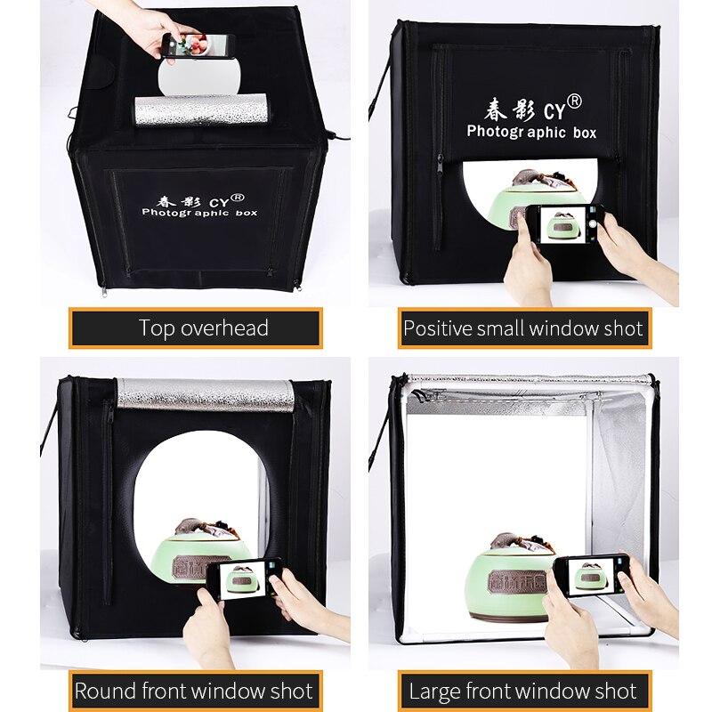 Бесплатная доставка 39 дюймов 80x80x80 см фотостудия световая коробка светодиодная мягкая коробка световая палатка фото коробка набор для детс
