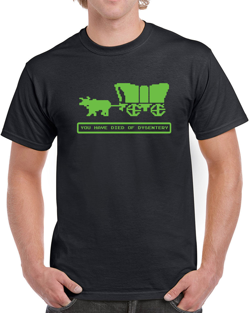 Fashion Died Of Dysentery Oregon Video Game Trail Vintage 80S Computer Crew Neck Short-Sleeve Mens T Shirts