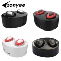 Zonyee Wireless Earphones new Mini double headset Invisible Bluetooth Headset  Binaural Stereo Handsfree Earpiece for iPhone 7 6