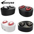 Zonyee auriculares nuevo mini doble auricular bluetooth invisible auricular inalámbrico estéreo binaural auricular de manos libres para iphone 7 6