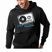 """Old School – Analog Audio Power"" hooded sweatshirt"