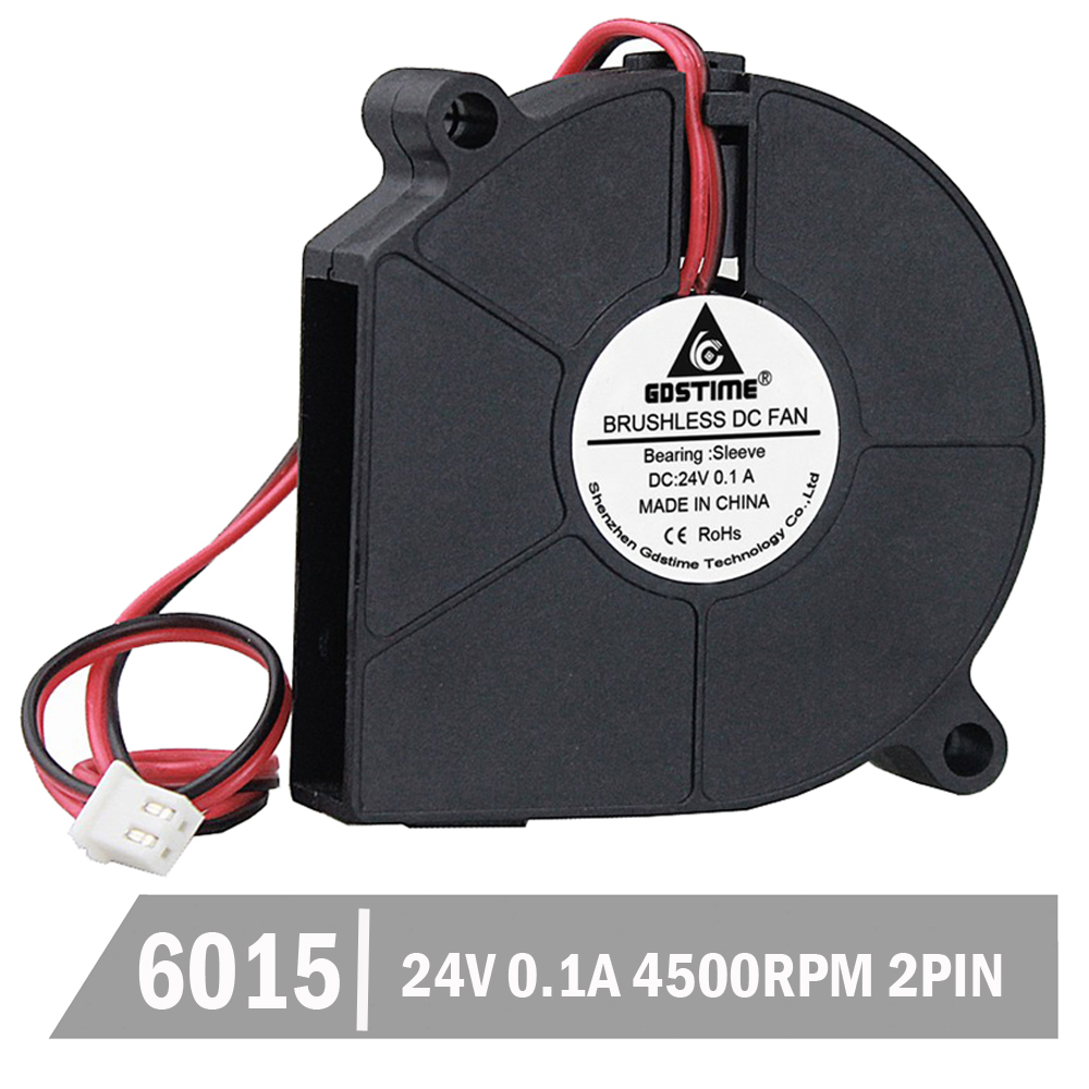 500pcs Gdstime 60mm x 15mm 6cm DC Brushless 24V 0.1A Blower Fan Turbo Centrifugal Bower Cooling