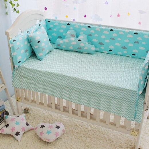 Soft Green Crib Bedding Set,Newborn Baby Cot Bedding Quilt Pillow Bumpers  Sheet,Toddler Bed Liner Cot Bumper Nursery Bed Linen In Bedding Sets From  Mother ...