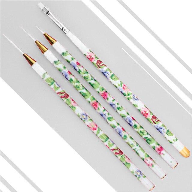 Aliexpress Buy Gel Len Diy Nail Art Liner Brush Set Kit 4pcs